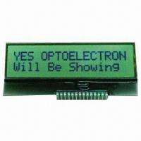 China Chip on Glass LCD Module for 16 x 2 Characters on sale