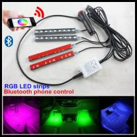 Quality Phone Control Flexible RGBW LED Interior Footwell Lights Strips LED DRL Atmosphere Lamps for sale