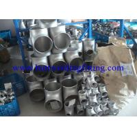 """Quality ASME B16.9 Straight Stainless Steel Tee ASTM A403 310S 2205 904L 14"""" SCH40S SCH80S for sale"""