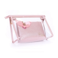 China Portable Women Washing PVC Transparent Cosmetic Bag on sale