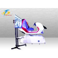 Quality Red Color VR Racing Simulator / Durable FRP 9D VR Car Driving Simulator for sale