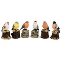 Quality Polyresin birds with sensor, muscial birds for sale
