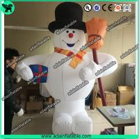 Quality 3m Inflatable Snowman With Broom,Inflatable Snow Man Mascot, Snow Man Cartoon for sale