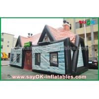 Quality Giant 0.55mm PVC Inflatable Air Tent Inflatable House Tent Log Cabin Waterproof for sale