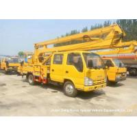 Quality ISUZU 16m Truck Mounted Articulated Aerial Work Platforms High Performance for sale