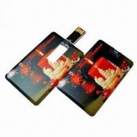 Quality Mini Card-shaped USB Flash Drive with Up to 16GB Capacity, OEM Services are Provided for sale