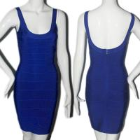Quality Quality approval royal blue sexy spaghetti strap backless short bodycon bandage dress for sale