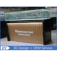 China Custom Modern Design Glass Jewellery Shop Display Counters With led lights on sale