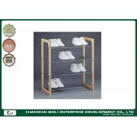 Quality Easy assemble 3 Tier display stand for shoes , wood and metal shelves for home for sale