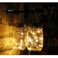 China Eco Friendly Solar Mason Jar Lid Insert Light , 10 LED Warm White Solar Fairy Lights on sale
