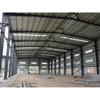 Buy cheap Warehouse Garage Sunlight Tile Steel Frame Construction With 5 Ton Crane from wholesalers