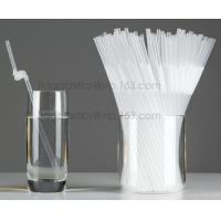 Quality Disposable cute plastic white straight drinking straw, PLA individually wrapped drinking Straws, PLA straws disposable for sale
