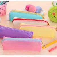 Quality Fashionable Cute Candy PVC Pencil Bag , Colorful PVC Stationery Bag for sale