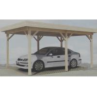 Prefabricated Natural Outdoor Wooden House Carport Gazebo In Pine Wood