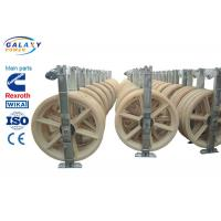 Quality Nylon Wheel Wire Pulling Blocks , 3 Sheave Galvanized Steel Wire Pulling Pulley for sale