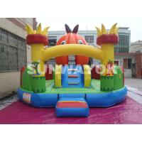 Pumpkin Inflatable Fun City For Festival Party , Halloween Inflatable Castle