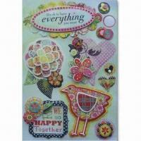 Quality Hand-made 3D Stickers with Non-toxic, Customized Designs Accepted, OEM/ODM Orders Welcomed for sale
