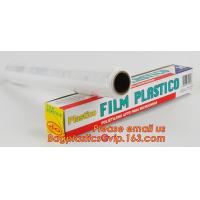 Quality surface protection PE best fresh cling film, China stretch cling wrap manufacturer pe food wrap with sample for sale