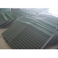 Quality ISO Military Hesco Bastion Barrier / Welded Gabion Box For 3-6mm Wire Diameter for sale