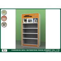 Quality Orange Metal Frame Petfood Four Layers Retail Display Shelves In Supermarket for sale