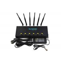 Quality 2G 3G 4G Cell Phone Signal Jammer 6 Channels With Adjustable Button for sale
