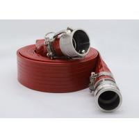 China Plastic High Pressure Heavy Duty PVC Layflat Hose Pipe With Couplings on sale