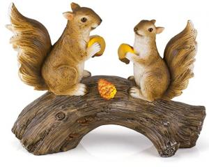 China Waterproof 7H 4V Squirrel Solar Powered Garden Animals on sale