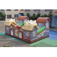 China PVC Inflatable Stone Age Fun City Full Painting / Classic Inflatable Safari Jump for sale