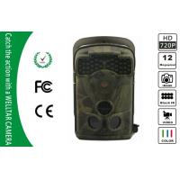 Quality 5MP / 12MP Black Infrared Trail Camera With Motion-Triggered , Wide Angle for sale
