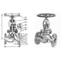Quality Stainless Steel Globe Valve Streamline Flange End With Bolted Bonnet for sale