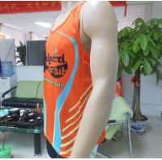 Quality Orange Summer Sublimated Running Wear Mens Basketball Vest for sale