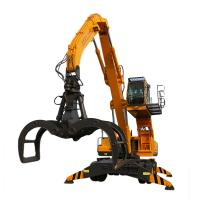 Quality Folding Arm 23 Ton Material Handling Machine Hydraulic Wheeled Material Handler for sale