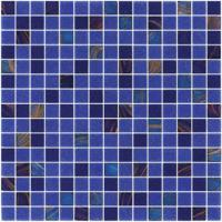 Quality Sanding blue 20mm glass mosaic blend pattern for swimming pool building for sale
