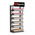 Розничная выставочная витрина сигареты, витринный шкаф смертной казни через повешение стены магазина дыма