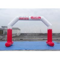 Quality Red PVC Inflatable Party Decorations / White Inflatable Entrance Arch For Advertising Campaign for sale