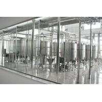 Quality Refrigerated Dairy Production Line / Milk Cooling Tank With CIP Cleaning System for sale