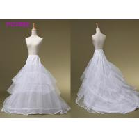 Quality Ball Gowns White 3 Hoop Petticoat , Beading Bridal Wedding Dress Hoop Petticoat for sale