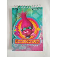 China School stationery cool spiral notebooks with trolls collection / notebook writing pads for kids on sale
