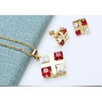 China Clear Quartz Crystal Applique Crafts , Delicate Jewelry Necklace & Earrings on sale