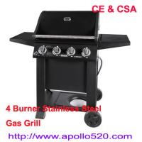 China Free Standing Gas Grill 4 Burner with CSA Certification on sale