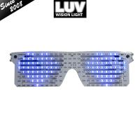 Quality Crazy Hot EL LED Glasses Luminous Colorful Glowing Dance DJ Party Decorative Shutter glasses With 3V Flashing/Steady On for sale