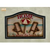 China Beach Wall Decor Wooden Wall Plaques Decorative Wall Mounted Plaques White Color on sale