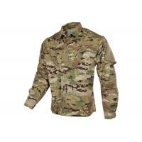 Quality Tilted Chest Pocket Polyester Army Military Uniforms / Winter Work Jackets for sale