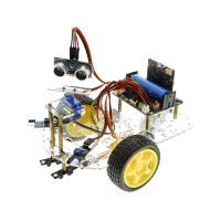 China Multi-function Robot Car Kits Ultrasonic Sensor Assembly Kit With Tutorial For Micro:bit on sale