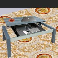 China Grey Lift Top Coffee Table With Hidden Storage Compartment Space Save on sale