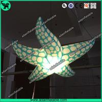 Quality Indoor Event Hanging Decoration Inflatable Character/Inflatable Starfish With LED Light for sale
