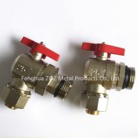 Quality Transition Pex Angle Ball Valve For Manifolds , PEX Compression Ball Valve for sale