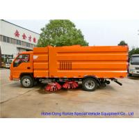 Quality FORLAND Vacuum Broom Road Sweeper Truck / Small Mobile Street Sweeper for sale