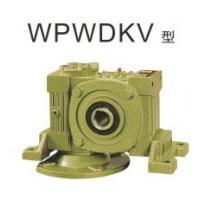 Quality WP series center distance 75 flange input ratio 25:1 single reduction worm gear reducer for sale