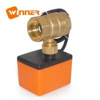 Quality Motorized Electric Actuated Ball Valve Temperature Sensor 2 Way Actuator Dn20 / 220v for sale